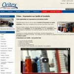 Oritex : Impression et marquage sur textile