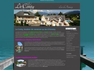 Le Conty, location estivale au lac d'Annecy