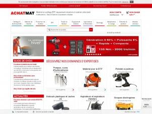 Achatmat : Tout le matériel BTP, l'outillage professionnel et la protection de chantier