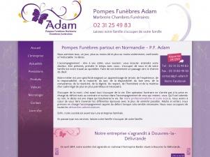 Pompes funèbres Adam – Marbrerie, chambres funéraires, monuments funéraires dans le Calvados(14) et la Manche(50)