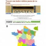 Trouver une boite à lettres jaune de La Poste