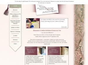 Les Liens de la Mémoire – mise en valeur du patrimoine,  ateliers de reliure pour enfants et adultes à Caen (14)