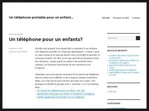 Un téléphone pour un enfant…