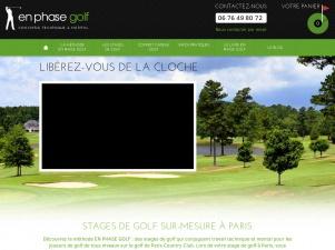 Stages de golf sur enphasegolf.com