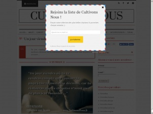 Cultivonsnous : citations, proverbes, poèmes