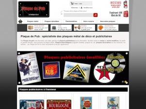 Plaque de pub, le temple de la plaque publicitaire en ligne