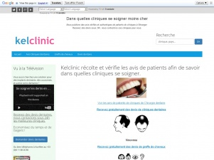 Kelclinic, site d'avis de patients de cliniques à l'étranger (tourisme médical)