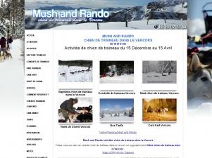 Mush and rando: chien de traineau loisir et sport