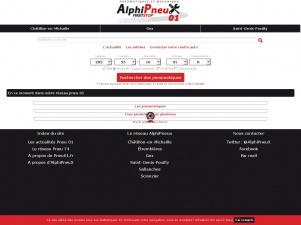 Pneu01.fr et le portail des First Stop Alphipneux dans l'Ain
