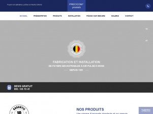 Precicom, Fabrication et installation de foyers encastrables à Air Pulsé à Mons