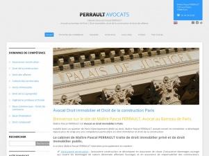 Pascal Perrault, avocat du droit de la construction