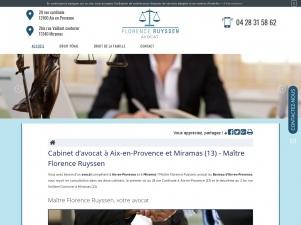 Avocat à Aix-en-Provence et Miramas, Maître Florence Ruyssen
