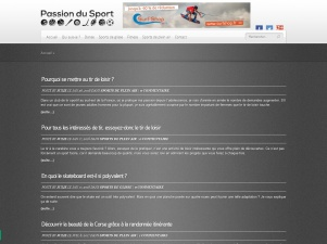 Passion du Sport, conseils et informations pratiques