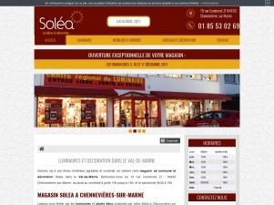 Magasin de luminaire et décoration  en Val-de-Marne, Solea