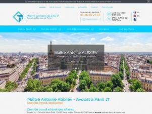 Maître Antoine Alexiev, avocat licenciement Paris 17