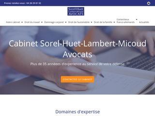 Cabinet d'avocats Sorel-Huet-Lambert-Micoud
