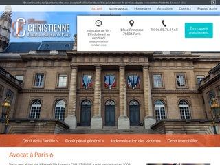 Maître Florence Christienne, avocat droit des familles à Paris 6