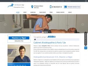 Ostéopathe à Paris, Maxime Le Bigot