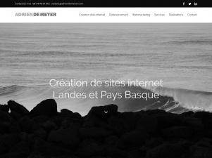 Adrien De Meyer, webmaster freelance dans les Landes