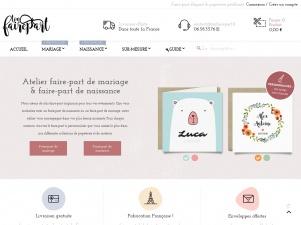 Atelier de création faire-part mariage et faire-part de naissance : Tonfairepart