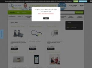 Comptoir Audition, vente en ligne d'appareils pour malentendants