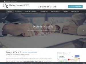 Maître Hannah KOPP, cabinet d'avocat à Paris 12 – Avocat divorce, droit pénal