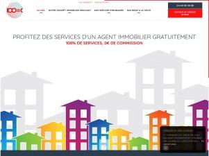 100=0, agent immobilier sans commission
