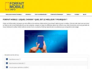 ForfaitMobile : quel opérateur mobile choisir pour votre téléphone ?