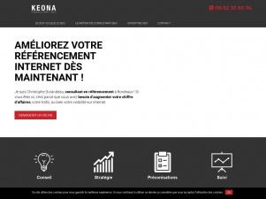 KEONA, site d'une consultant SEO à Bordeaux