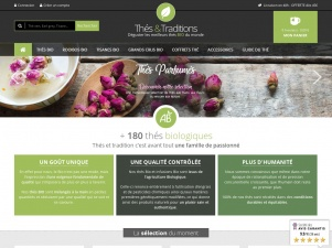 Thés et Traditions, le site de vente de thé bio