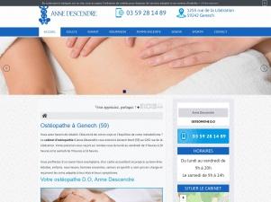 Ostéopathe à Genech, Anne Descendre