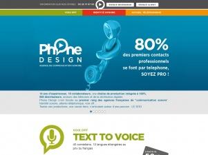 Phone Design, enregistrement de messages pour l'accueil téléphonique